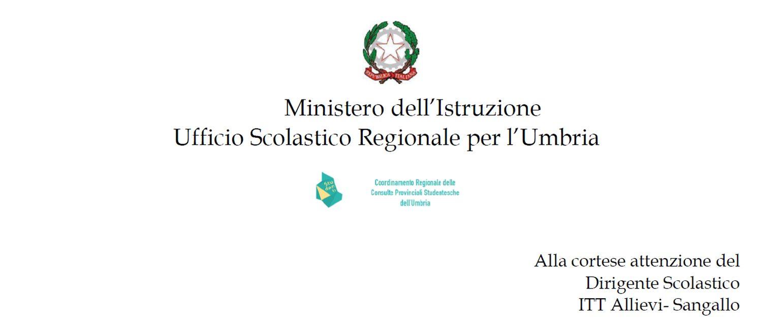Attestazione attività in Consulta dall'Ufficio Scolastico Territoriale.